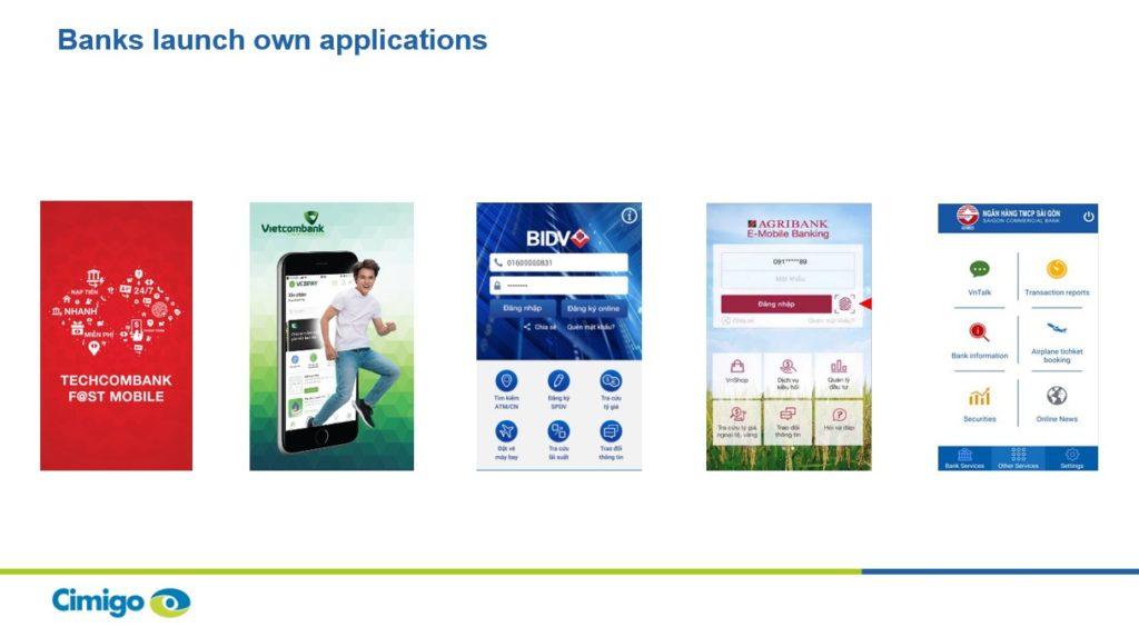 Bank mobile applications in Vietnam 19-4-19