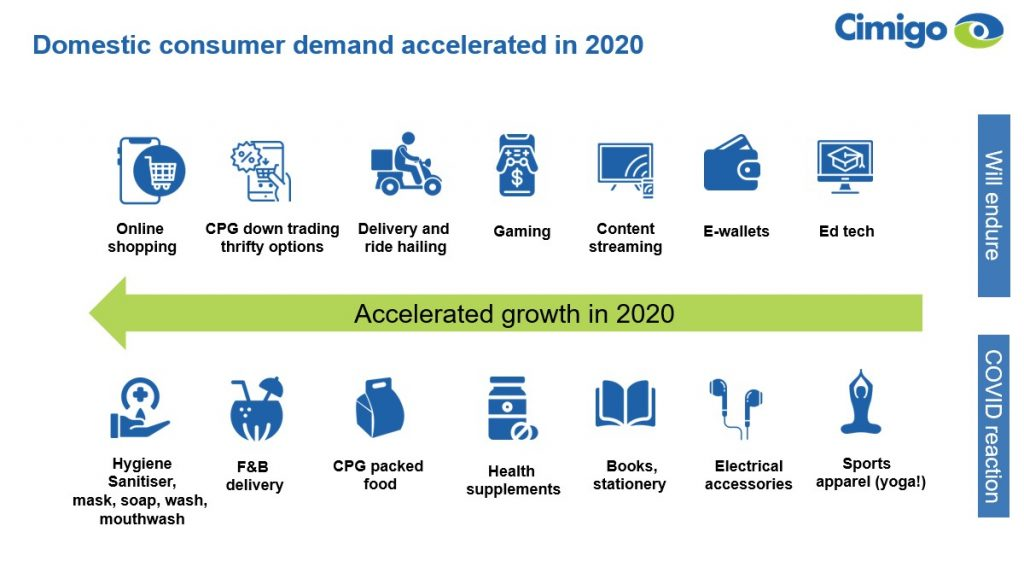 Domestic demand Vietnam which accelerated in 2020