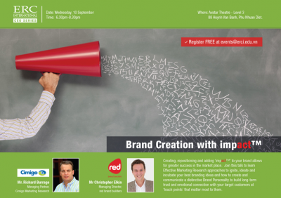 Brand creation with impact