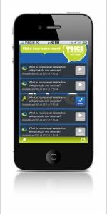 A survey screenshot of the Cimigo App
