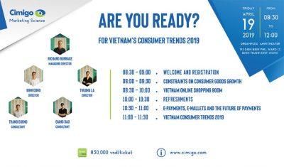 Join the Vietnam Consumer Trends seminar April 19th 2019